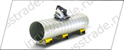 Cut steel pipe