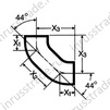 Draft Bend PAM-GLOBAL® S 88˚ (two joint bends 44˚)