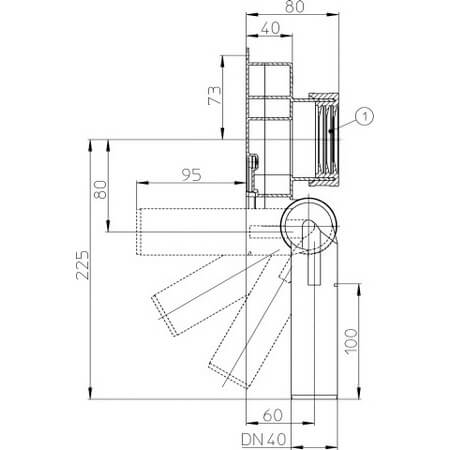 Draft Hutterer Lechner Urinal Trap DN40 Code Number HL 430 40