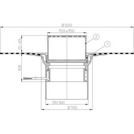 Hutterer Amp Lechner Flat Roof Drain With Bitumen Membrane