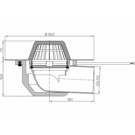 Hutterer Amp Lechner Flat Roof Drain Horizontal With Pp