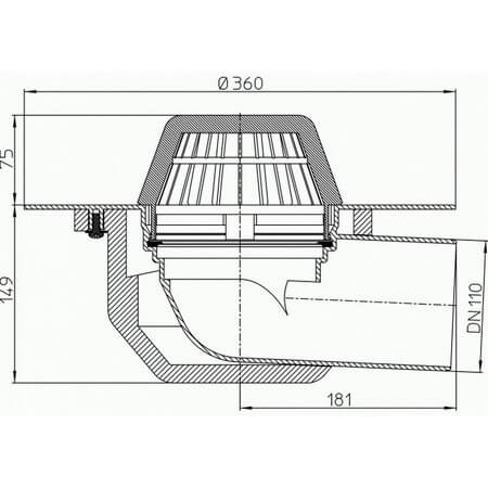 Hutterer Amp Lechner Flat Roof Drain With Pp Flange