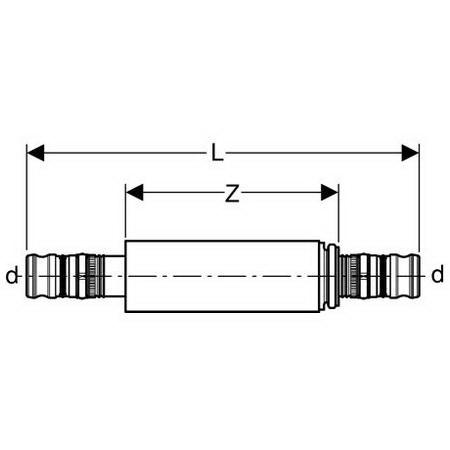 Geberit Mepla repair coupling, d 26 [Code number: 603.575