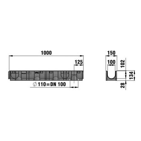 Hauraton RECYFIX STANDARD 100 Combined article, class B