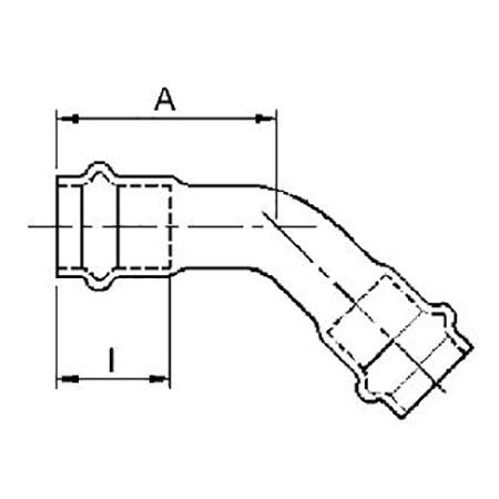 IBP B-Press Inox Obtuse Elbow, d 42 [Code number: PS5041