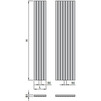 "Draft ISAN MELODY Radiator COLLOM LIGHT, standart connection 2×G1/2"", 1800/442 mm (price on request) [Code number: DCLL18000442SK01-]"