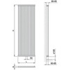 "Draft ISAN MELODY Radiator COLBY, standart connection 4×G1/2"", 1800/600 mm (price on request) [Code number: DCLB18000600SK01-]"
