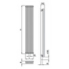 "Draft ISAN MELODY Radiator ANTIKA CUBE, standart connection 4×G1/2"", 1800/595 mm (price on request) [Code number: DANC18000595SK01-]"