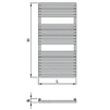 "Draft ISAN MELODY Radiator CLUB EDGE, standart connection 4×G1/2"", 1182/600 mm (price on request) [Code number: DCLE11820600SK01-]"
