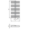 "Draft ISAN MELODY Radiator KORO, standart connection 2×G1/2"", 1180/600 mm (price on request) [Code number: DKOR11800600SK01-]"