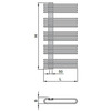 "Draft ISAN MELODY Radiator KORO PLUS, standart connection 2×G1/2"", 1180/600 mm (price on request) [Code number: DKOP11800600SK01-]"