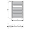"Draft ISAN MELODY Radiator MAPIA LIGHT, standart connection 4×G1/2"", 1180/500 mm (price on request) [Code number: DMAL11800500SK01-]"
