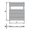 "Draft ISAN MELODY Radiator MAPIA PLUS DOUBLE, standart connection 4×G1/2"", 1180/606 mm (price on request) [Code number: DMAD11800606SK01-]"
