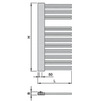 "Draft ISAN MELODY Radiator SWINGO, standart connection 2×G1/2"", right design, 1610/610 mm (price on request) [Code number: DSCR16100610SK01-]"