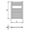 "Draft ISAN MELODY Radiator SPIRA, standart connection 4×G1/2"", 730/500 mm (price on request) [Code number: DSPI07300500SK01-]"