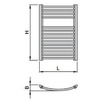 "Draft ISAN MELODY Radiator SPIRA RADIUS, standart connection 4×G1/2"", 730/600 mm (price on request) [Code number: DSPR07300600SK01-]"
