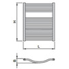 "Draft ISAN MELODY Radiator LINOSIA PLUS, standart connection 4×G1/2"", 730/600 mm (price on request) [Code number: DLIP07300600SK01-]"