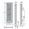 Draft ISAN MELODY Radiator F10L, bottom connection (right), 1800/700 mm (price on request) [Code number: F10L18000700DB01-]