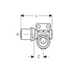 "Draft Geberit Volex Wall plate elbow 90°, left, d 16*Rp 1/2"" [Code number: 618.580.00.1]"
