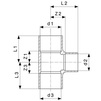Draft VIEGA Soldered fittings T-​piece, d 76,1 [Code number: 135911]