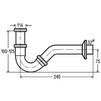 "Draft VIEGA Pipe odour trap for bidet, chrome-​plated, d 1 1/4"" x 1 1/4"" (price on request) [Code number: 103781]"