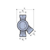 Draft Wavins Base of chamber, PE, right inlet, type III, d 315х250 x 250 [Code number: 22970024]