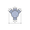 Draft Wavin Base of chamber, PP, left and right inlets, type II, d 315х200 x 200 [Code number: 22970013]