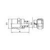 "Draft VALTEC Adapter union with male thread, d 16х3/4"" [Code number: VTm.301.N.001605]"