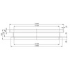 Draft HAURATON AQUAFIX Frame for shaft cover PE, height 110 mm [Code number: 386012]