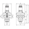 "Draft VALTEC Pressure reducer, adjustable, membranous, from 1 to 7 bar, d 1/2"" [Code number: VT.085.N.0407]"