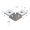 Draft Mounting angle 3D two-sided, type 38-41, 4F4 [Code number: 09254003]