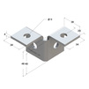 Draft Mounting angle 3D right, type 38-41, 4F3 [Code number: 09254001]