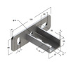 Draft Saddle support bracket, transverse, type 28, 4F2 [Code number: 09118001]