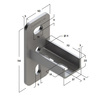 Draft Saddle support bracket, longitudinal, type 28, 4F2 [Code number: 09117001]