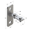 Draft Channel support bracket, transverse, type 28, 4F2, M8 [Code number: 09116001]