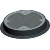 Photo Wavin Tegra 1000 NG cast iron cover with concrete filling, 2 bolts, D400/-/770  [Code number: 22986544]