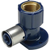 "Photo Wavin Future K1 elbow with flange, for plumbing fixture, d 20 x 3/4"" [Code number: 25508200]"