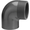 "Photo Wavin PVC Pressure Pipe systems Reducing elbow 90° with male thread, PVC-U, PN10, d 50-1 1/2"" [Code number: 20126634]"