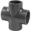 Photo Wavin PVC Pressure Pipe systems Cross piece, PVC-U, PN10, d 75 [Code number: 20137414]
