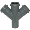 Photo [REPLACEMENT: 506000.R] - SINIKON Standart Double branch fitting 45°, PP, PP, D 50*50*50 [Code number: 506000.E]