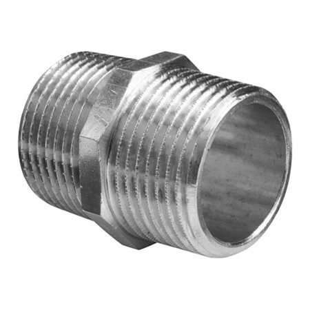 CEKER 1//8 Hex Nipple Fitting,Brass Nickle-Plated 1//8 x 1//8 NPT Male Pipe Connector Fit 5Pack