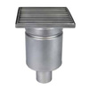 Photo ATT Drain MINI, single-hull, vertical, with siphon trap, mesh strainer and square grating, DN50 [Code number: Wm150/50V1]