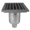Photo ATT Drain MINI, single-hull, vertical, with siphon trap, mesh strainer and square grating, DN50 [Code number: Wm200/50V1]