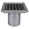 Photo ATT Drain MINI, single-hull, vertical, with siphon trap, mesh strainer and square grating, DN110 [Code number: Wm200/110V1]