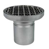 Photo ATT Drain MINI, single-hull, vertical, with siphon trap, mesh strainer and round grating, DN110 [Code number: Dm200/110V1]