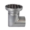 Photo ATT Drain MINI, single-hull, horizontal, with siphon trap, mesh strainer and round grating, DN110 [Code number: Dm200/110H1]