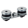 Photo Geberit Pluvia Set of reference sites, rectangular, two holes, M10 [Code number: 359.145.26.1]