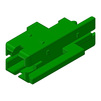 Photo HAURATON DRAINFIX BLOC Connection adaptor for DRAINFIX BLOC Size 2, green, 35x35x100 mm [Code number: 96110]