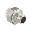 "Photo VALTEC PPR Brass pipe union with welding coupling male, d 20, G 1/2"" [Code number: VTp.761.0.02004]"