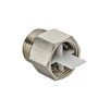 "Photo VALTEC shut-off valve for air vent, nickel-plated, d 3/8"" (price on request) [Code number: OR.539]"
